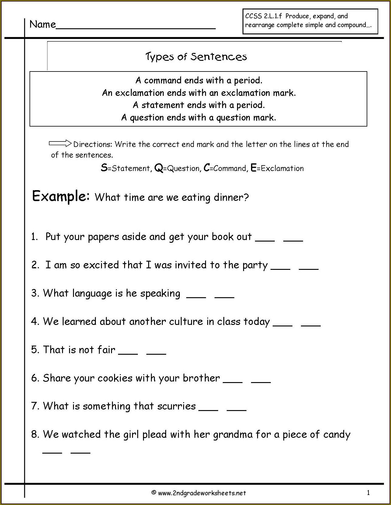 2nd Grade Revising And Editing Worksheet
