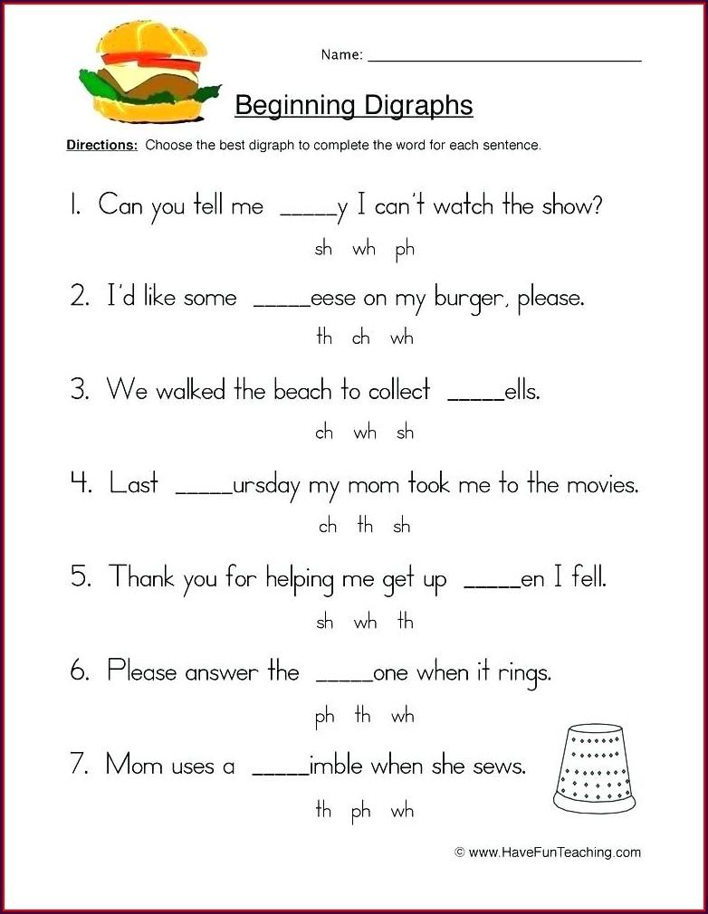 2nd Grade Vowel Digraphs Worksheets