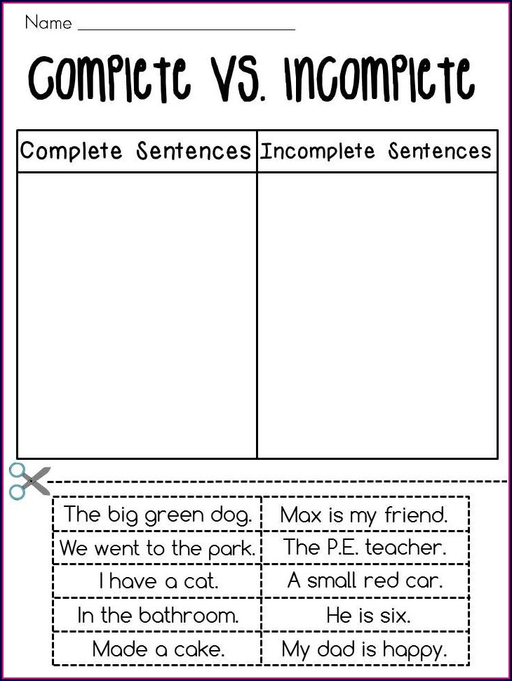 2nd Grade Worksheets Writing Sentences