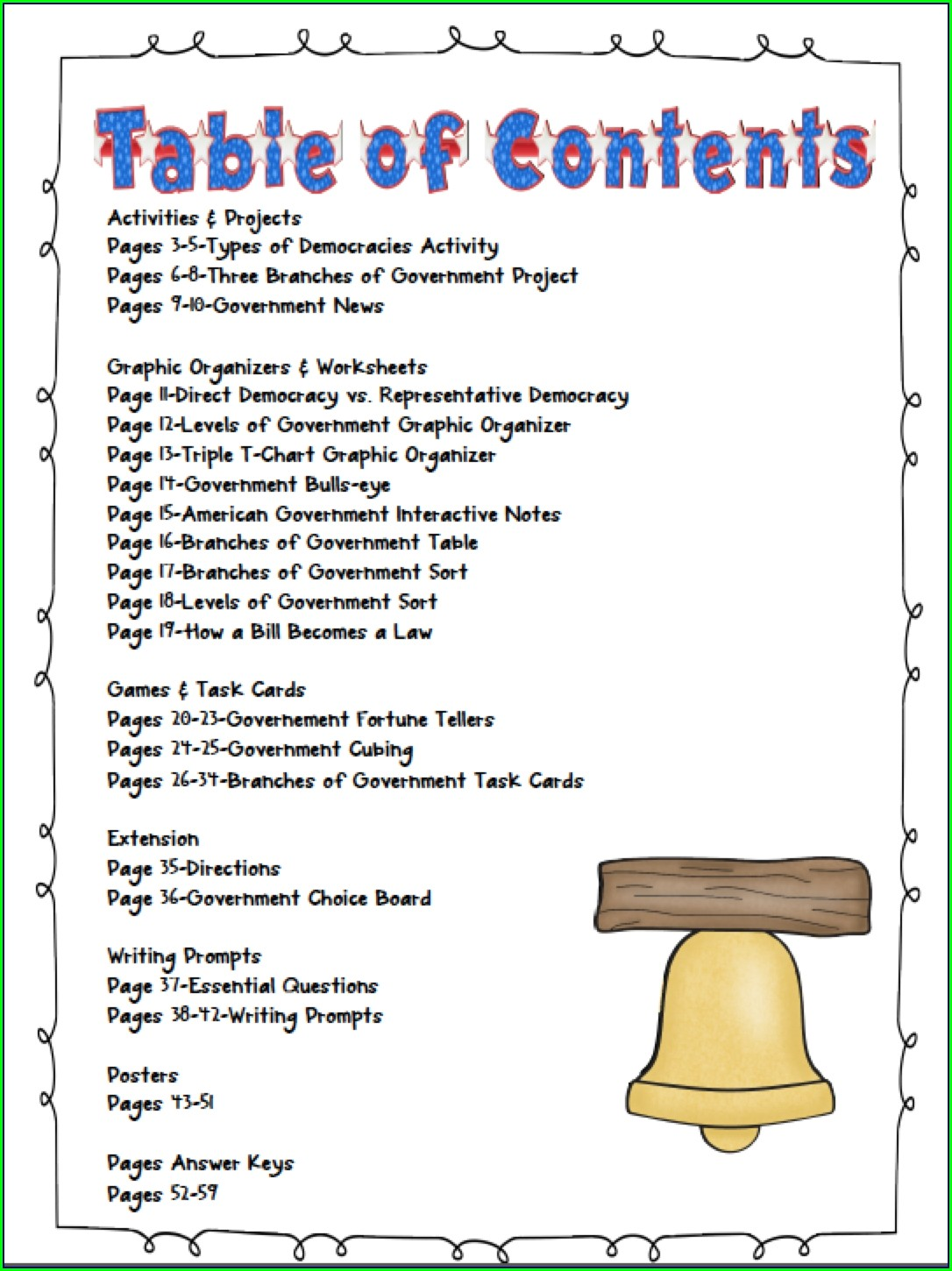 3rd Grade Branches Of Government Worksheet