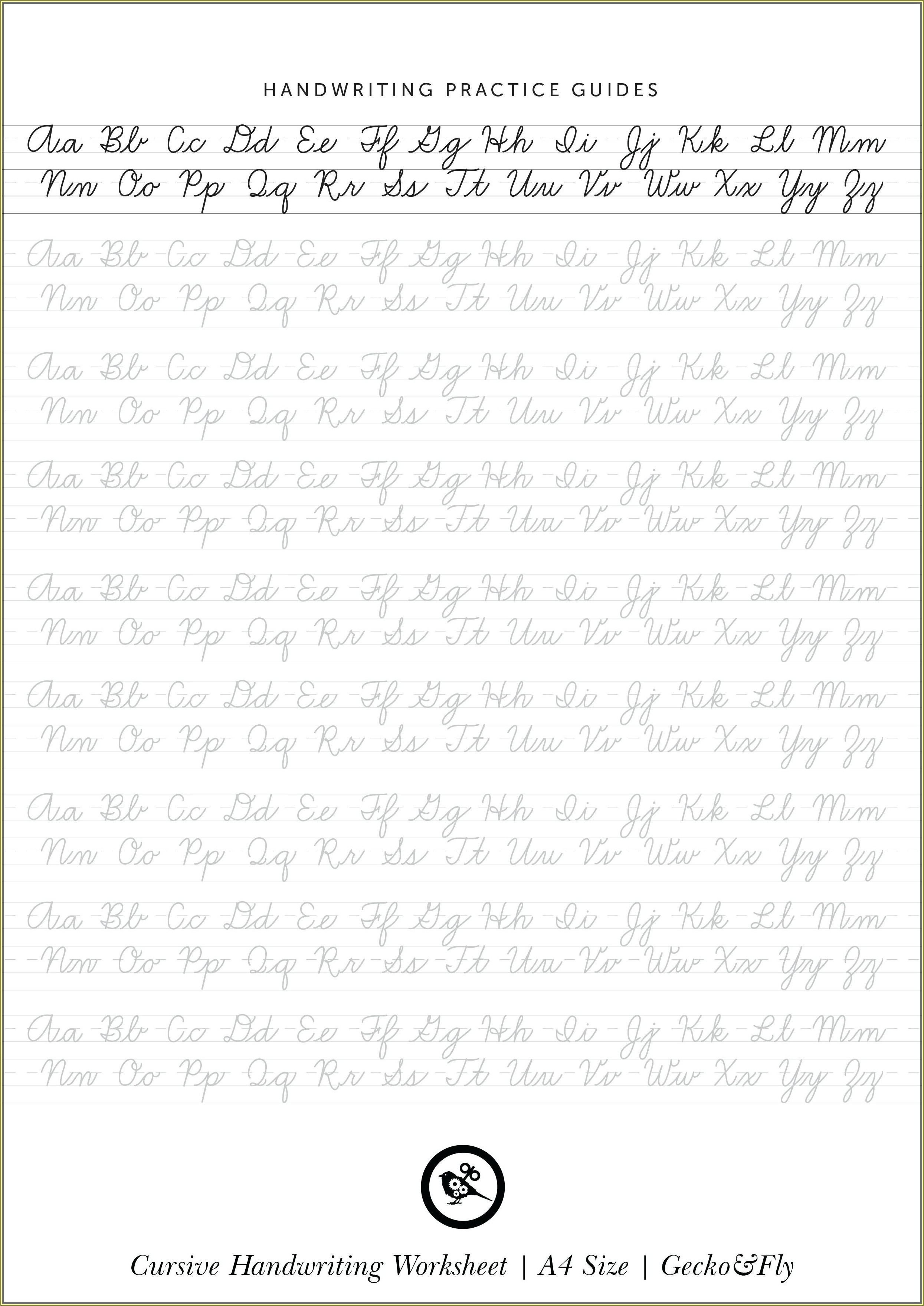 3rd Grade Cursive Handwriting Worksheets