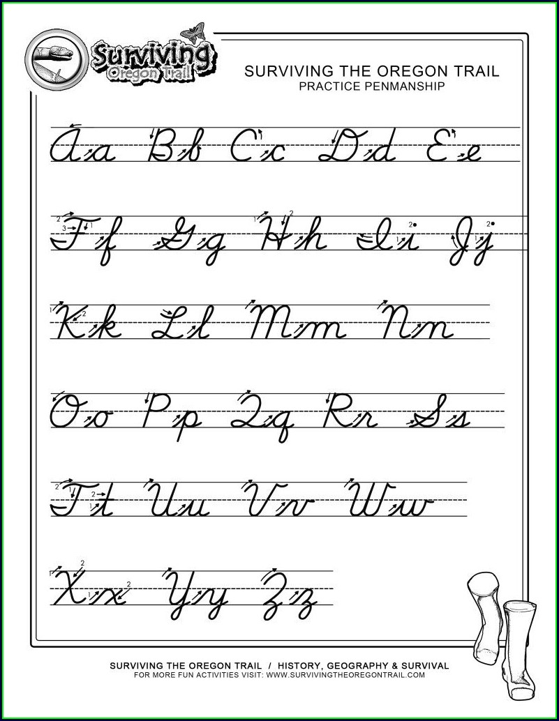3rd Grade Cursive Writing Worksheet For Grade 3