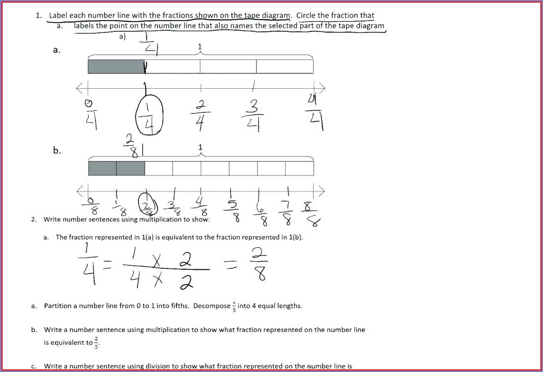 3rd Grade Equivalent Fractions Worksheet