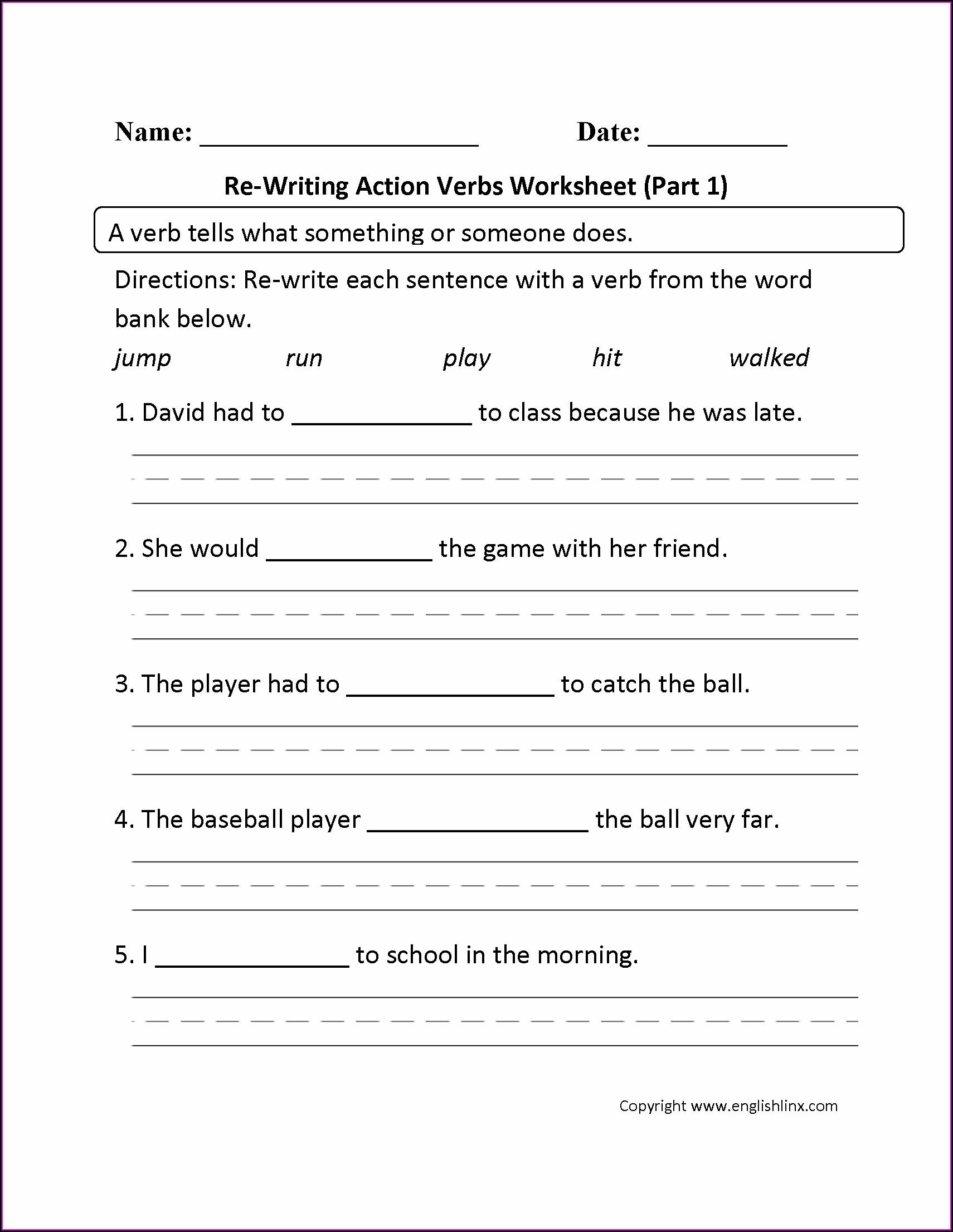3rd Grade Free Printable Cursive Worksheets