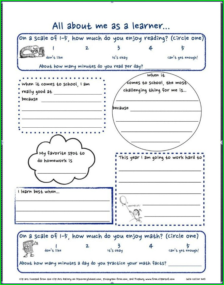 3rd Grade Get To Know You Worksheet