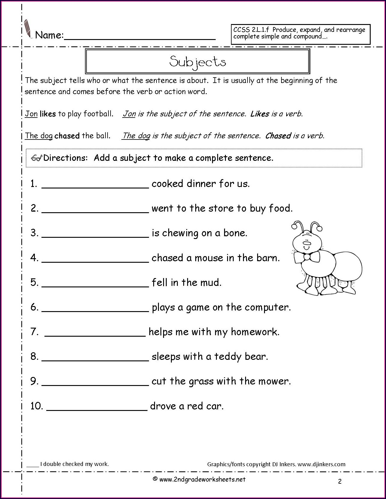 3rd Grade Kinds Of Sentences Worksheet For Grade 3