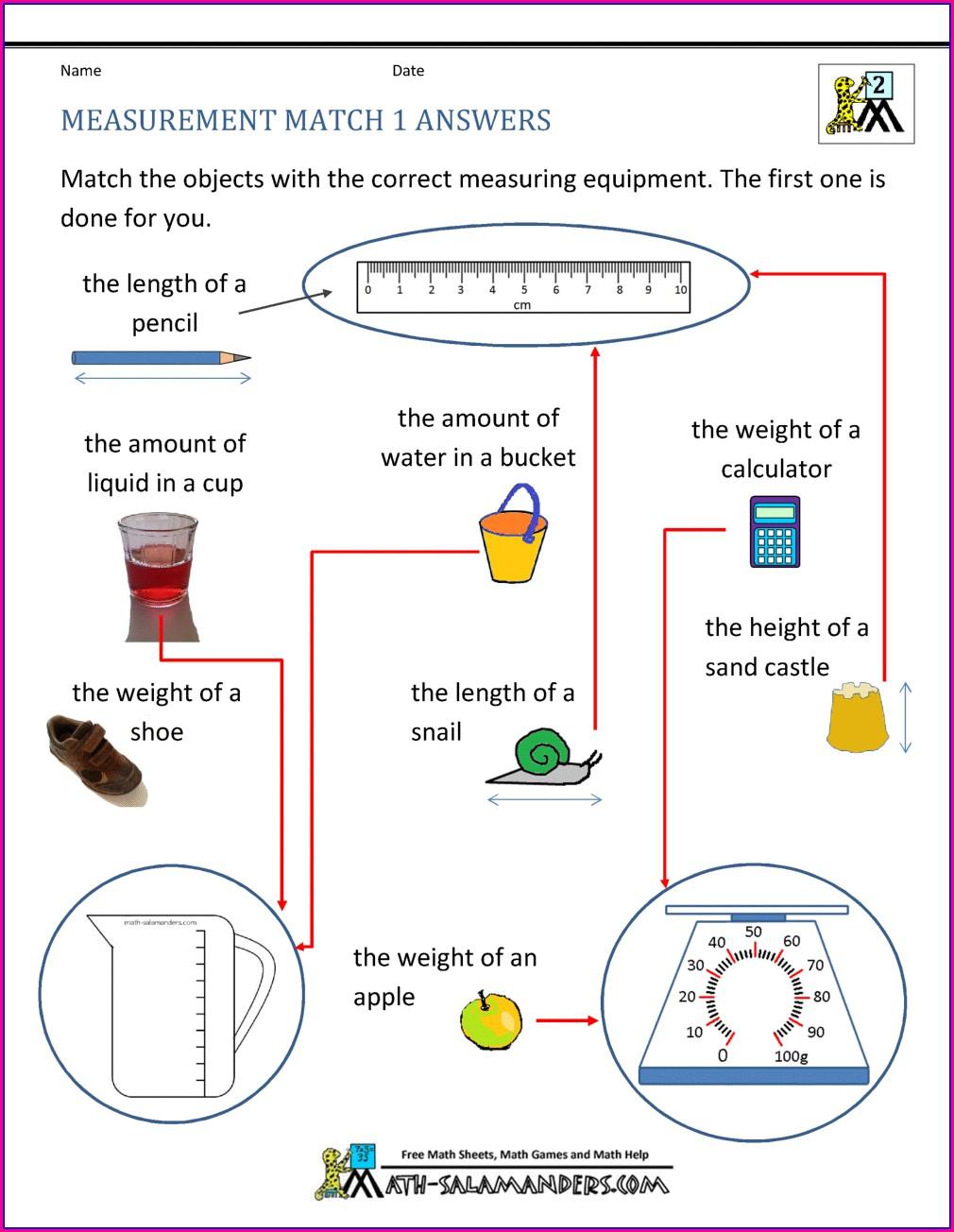 3rd Grade Math Measurement Worksheets Pdf