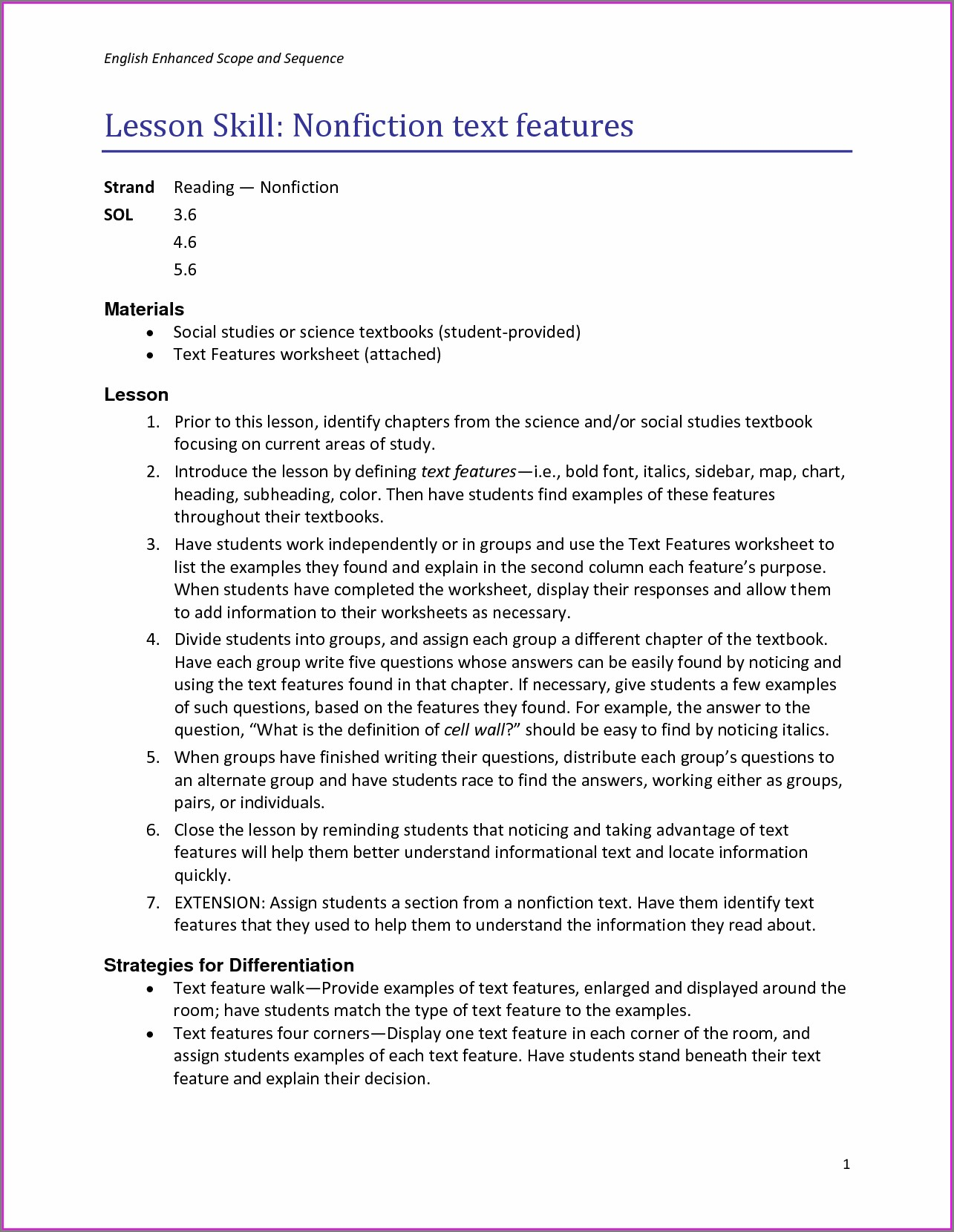 3rd Grade Nonfiction Worksheets