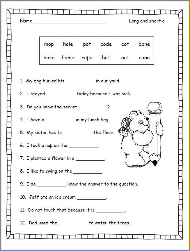 3rd Grade Phonics Worksheets Grade 3