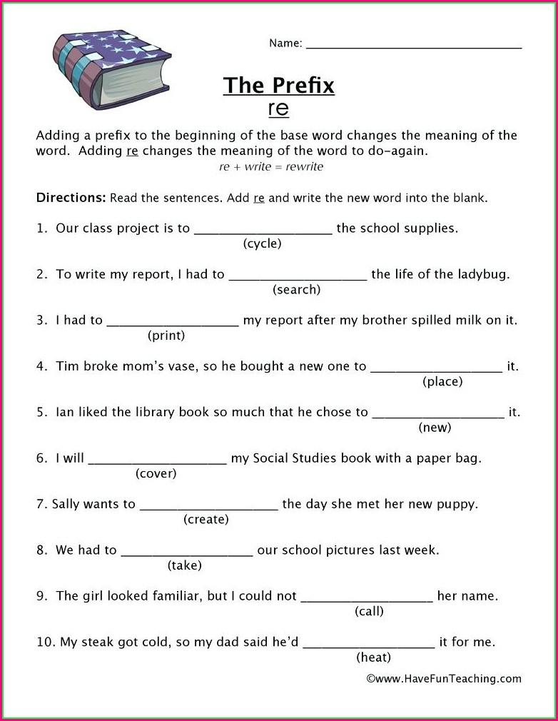 3rd Grade Prefix Un Worksheets