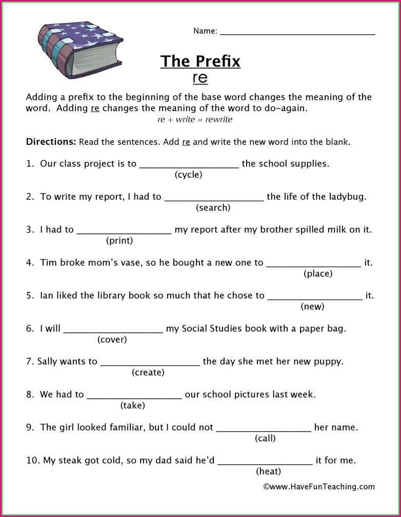 3rd Grade Prefix Worksheet For Grade 3