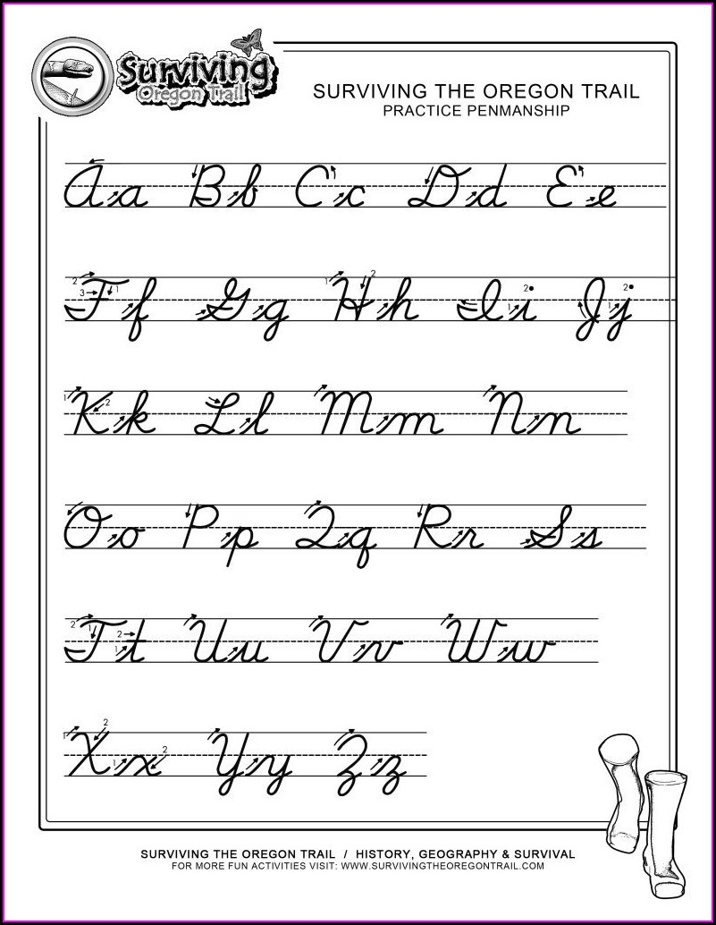 3rd Grade Printable 3rd Grade Cursive Handwriting Worksheets