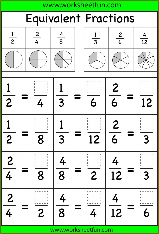 3rd Grade Printable Worksheets Fractions