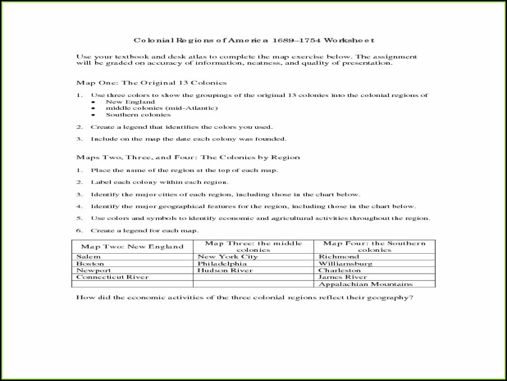3rd Grade Regions Worksheet
