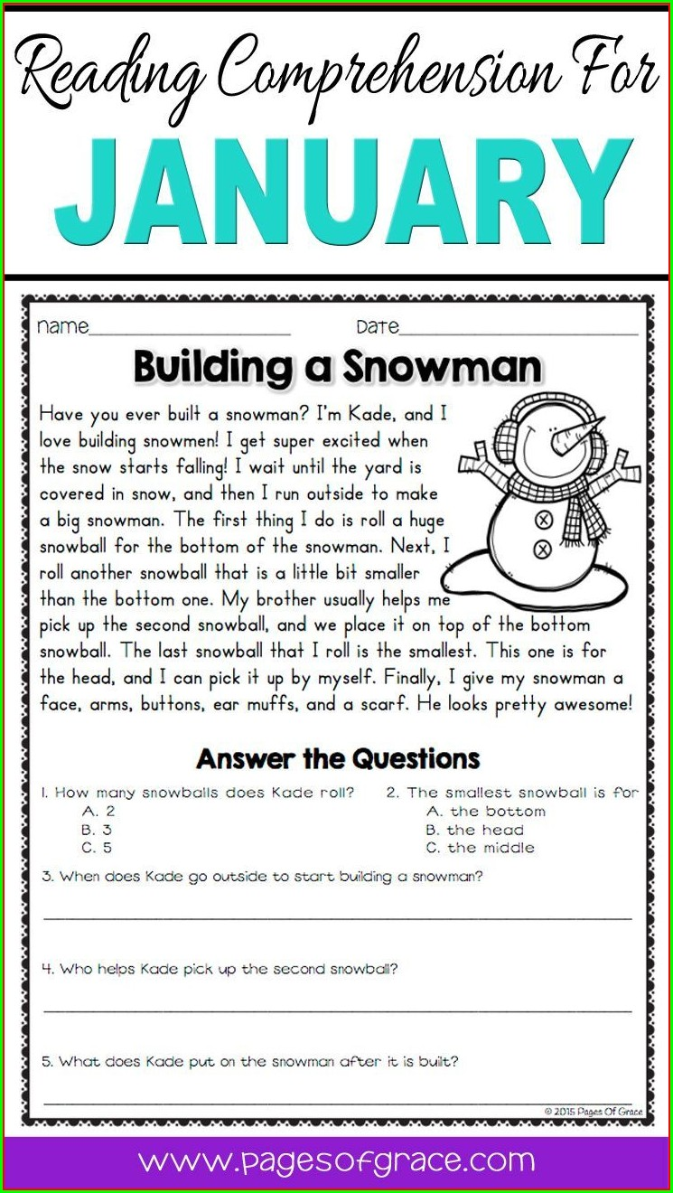 3rd Grade Short Reading Comprehension Passages