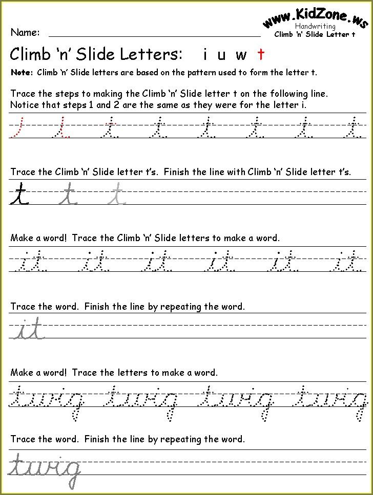 3rd Grade Third Grade 3rd Grade Cursive Worksheets
