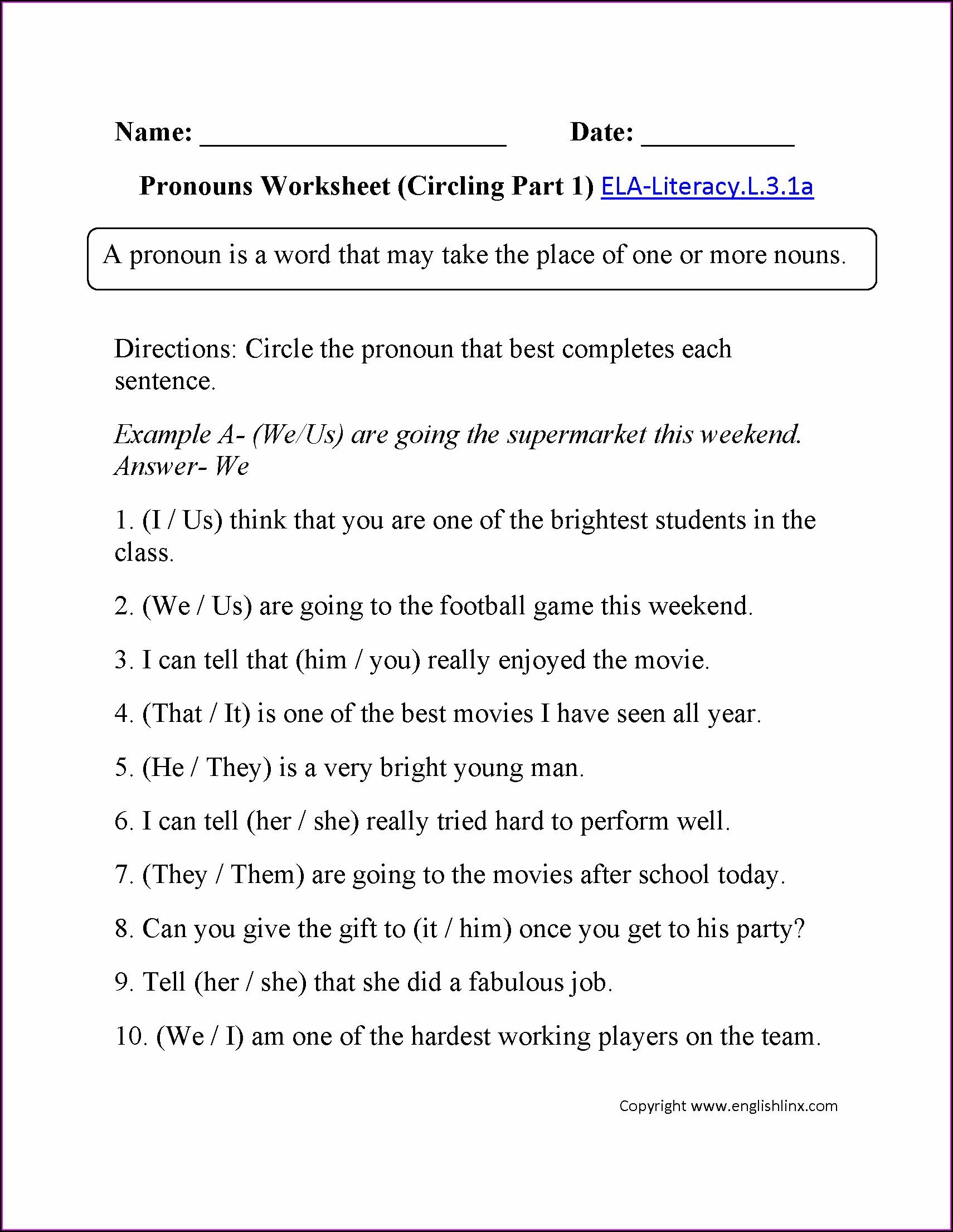 3rd Grade Worksheets Ela