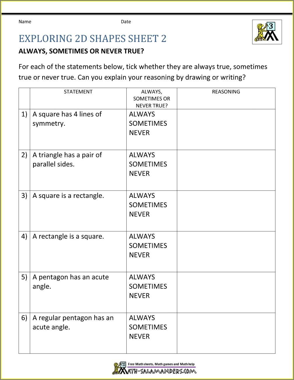 3rd Grade Worksheets Free Printable