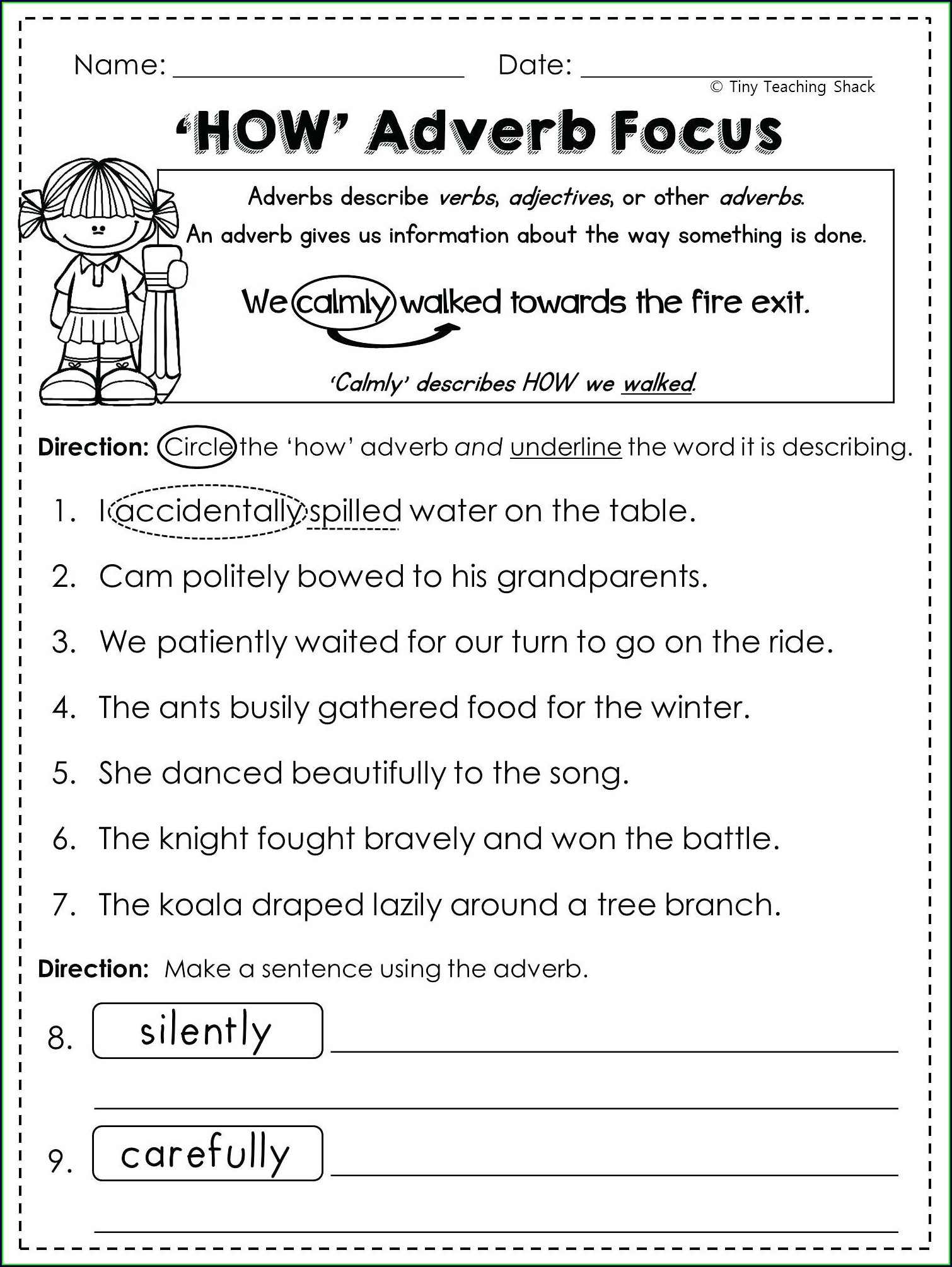 4th Grade Adverbs Worksheet For Grade 4 With Answers