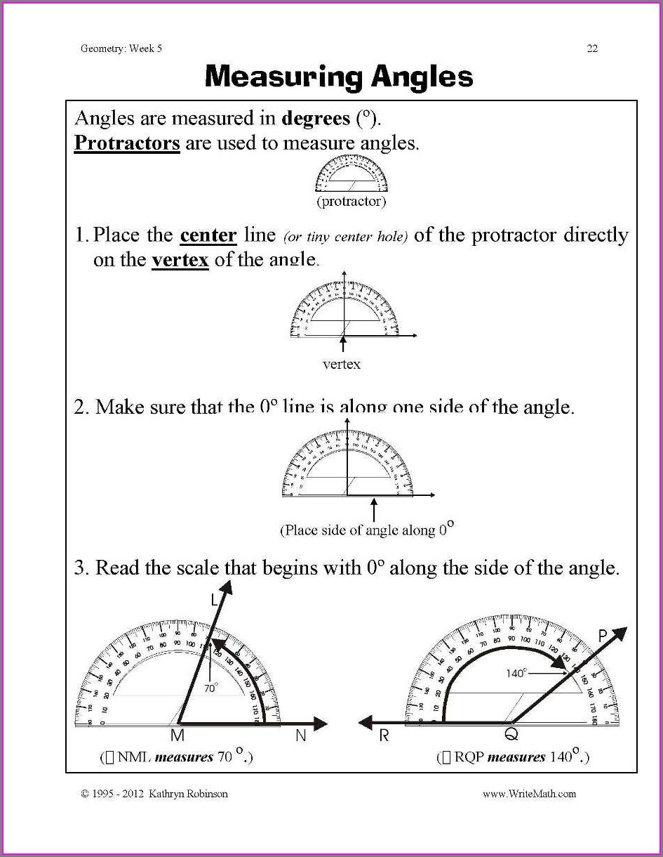 4th Grade Math Worksheets Geometry