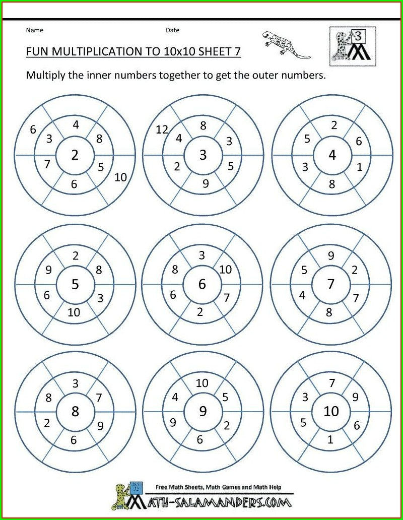 4th Grade Math Worksheets Rounding Numbers