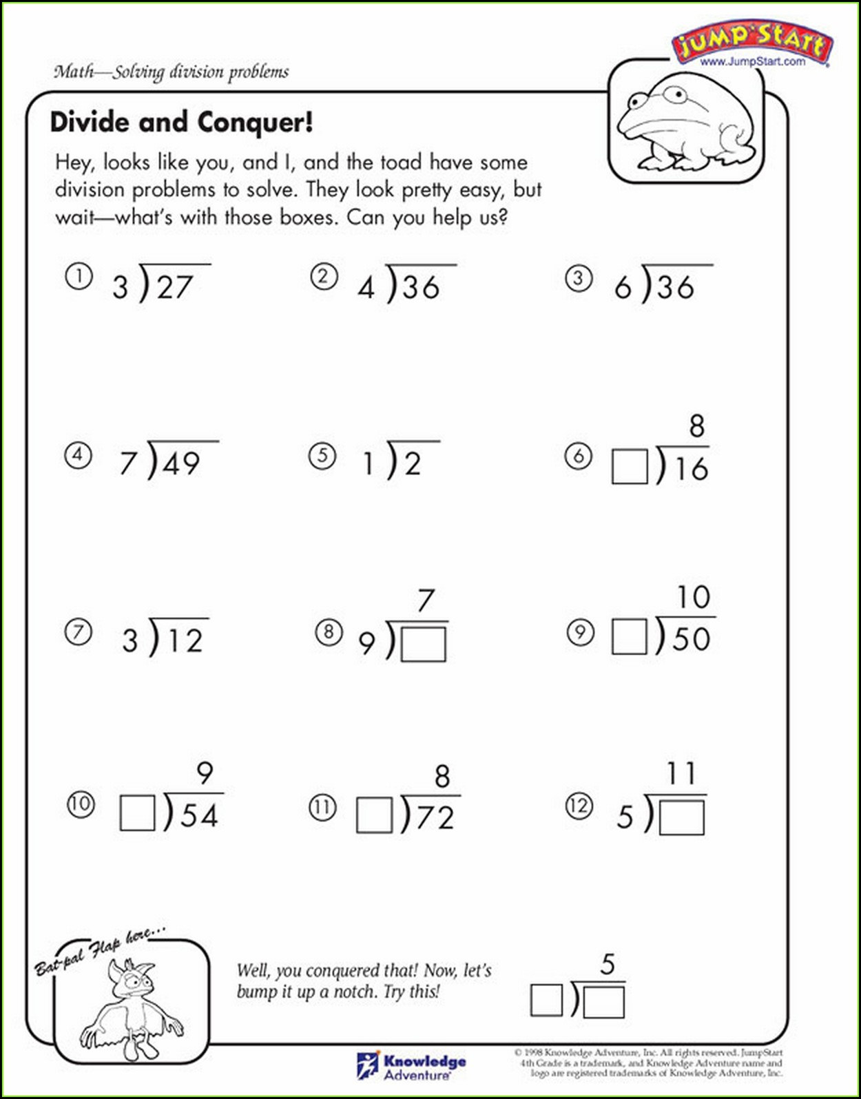 4th Grade Multiplication And Division Worksheet