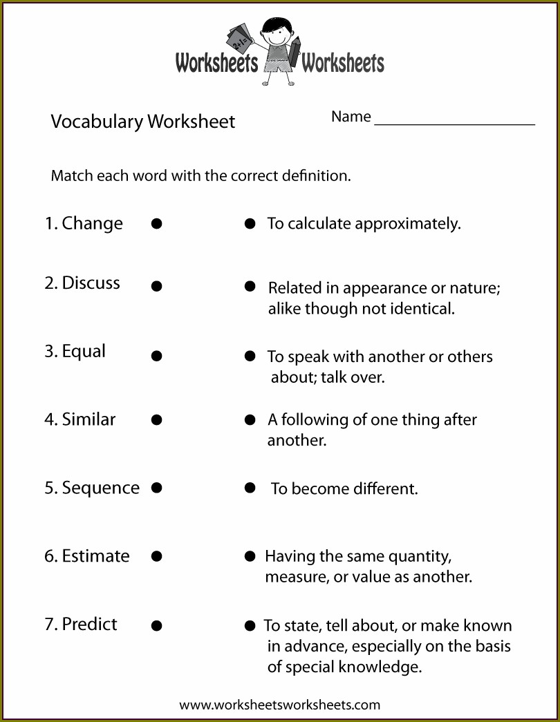 5th Grade English Worksheets For Grade 4
