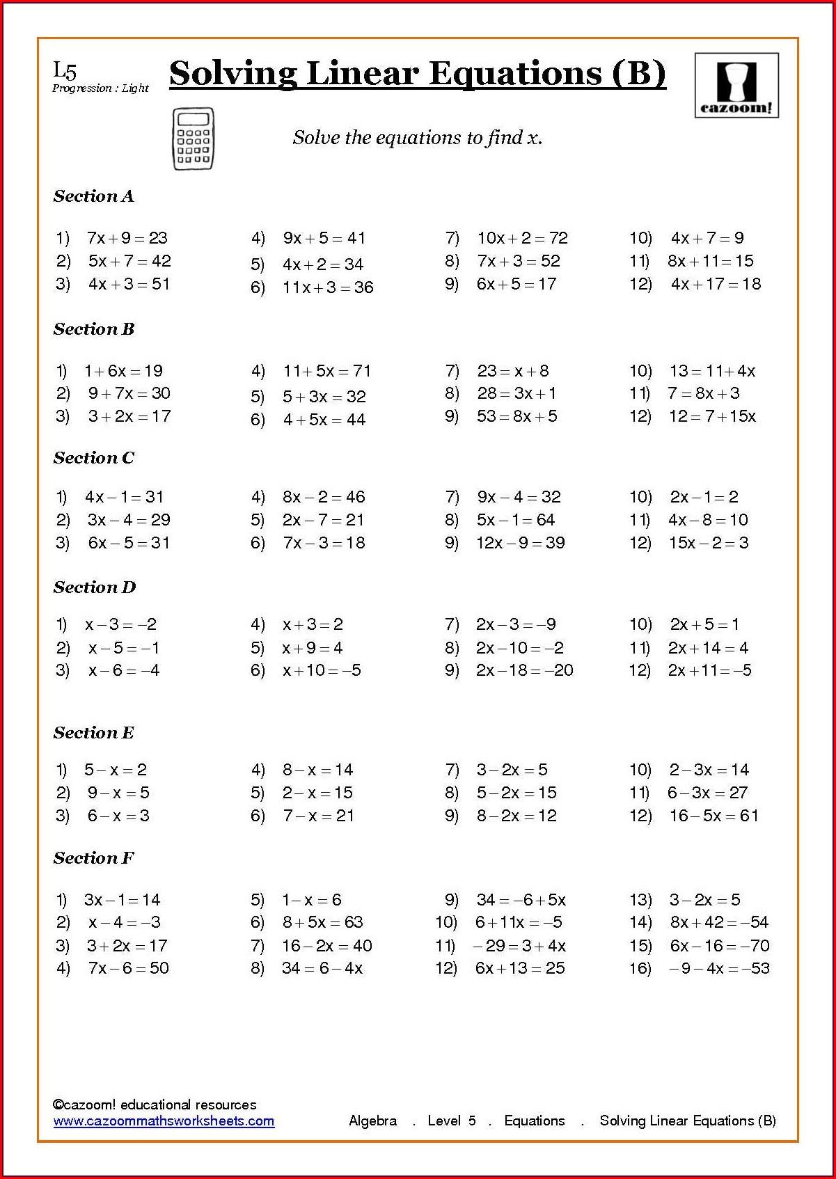5th Grade Everyday Math Printable Worksheets