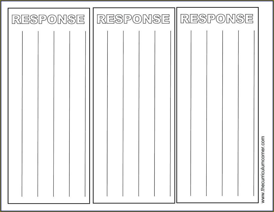 5th Grade Reading Response Worksheet