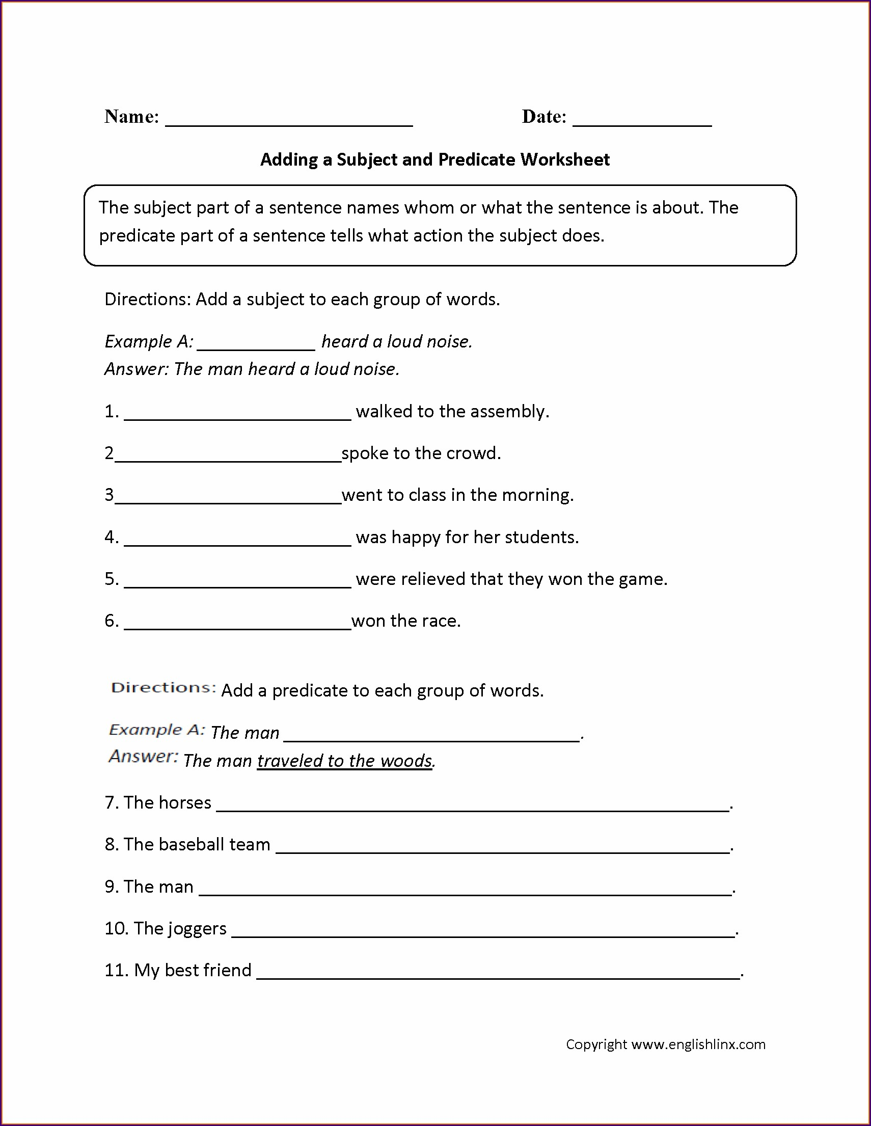 6th Grade English Grammar Worksheets For Grade 6 Pdf