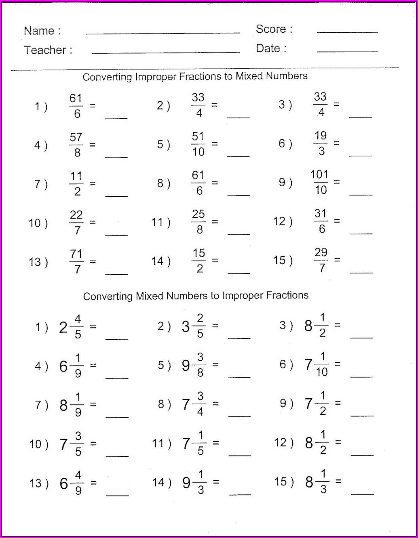 6th Grade Math Worksheet