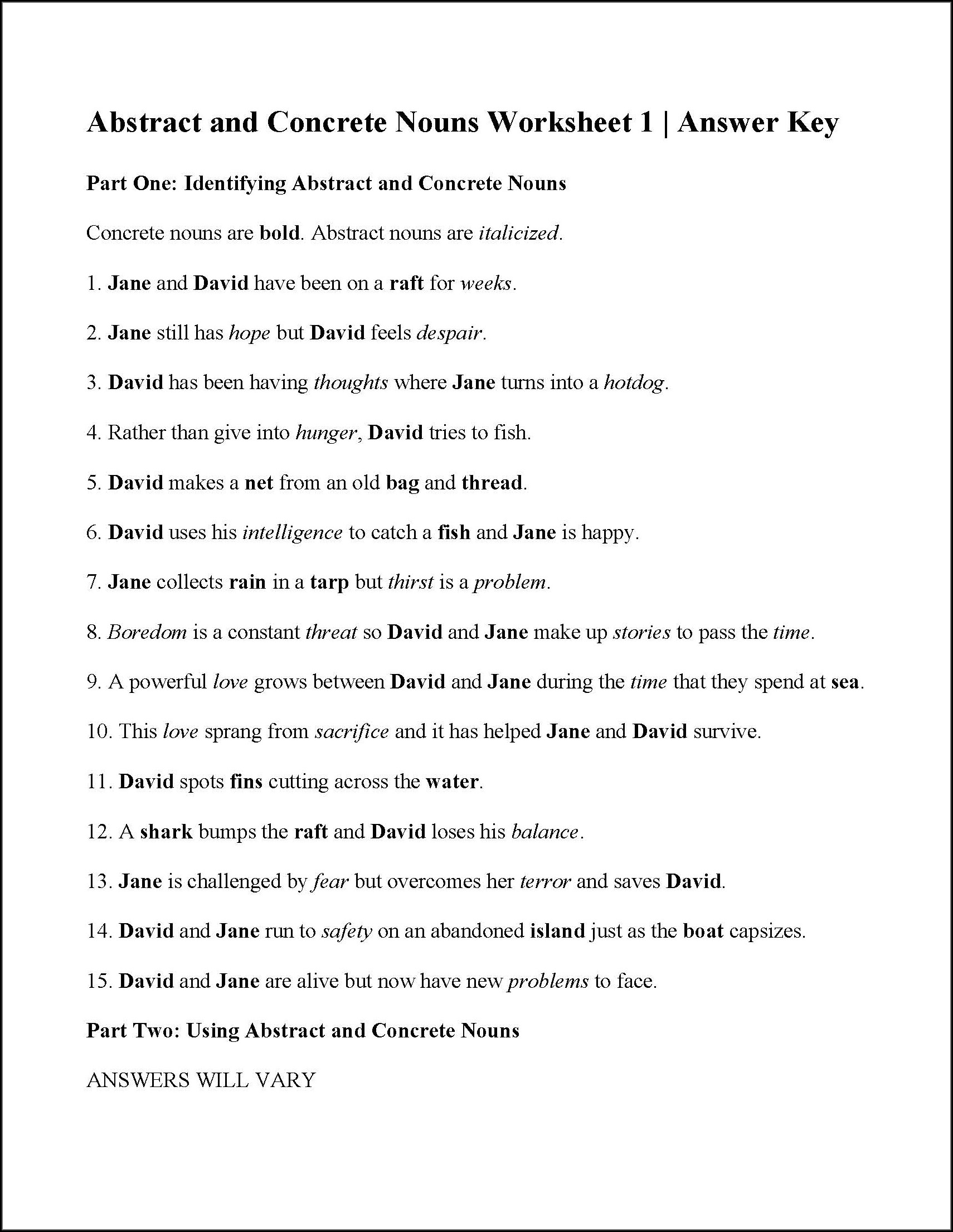 6th Grade Nouns Worksheets For Class 6 With Answers