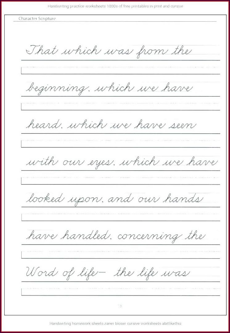 6th Grade Printable Cursive Writing Worksheets Pdf