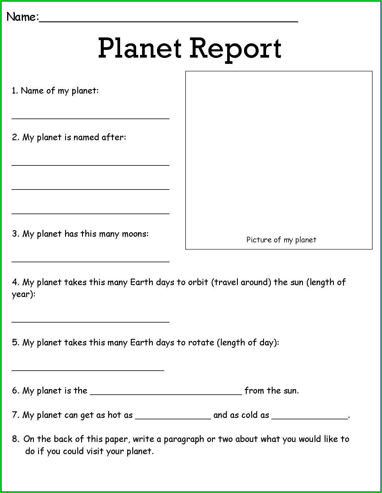 6th Grade Science Worksheet For Class 6