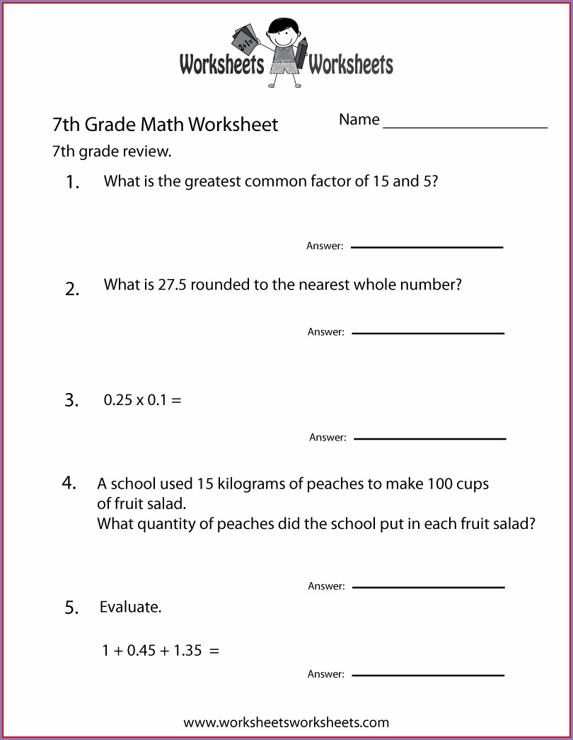 7th Grade English Worksheets Free