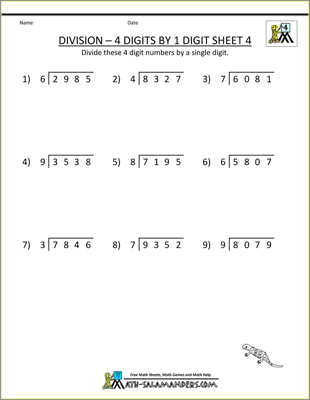 7th Grade Long Division Worksheets Grade 7