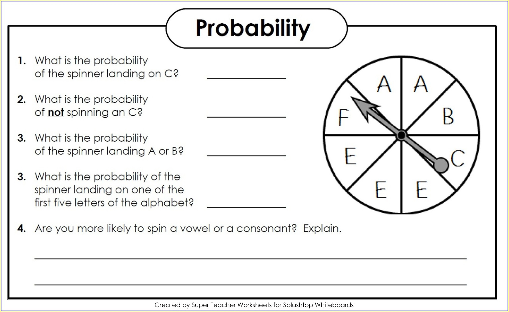 7th Grade Probability Worksheets Pdf