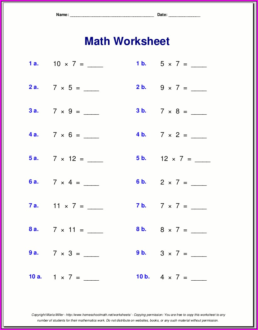 7th Grade Rational Numbers Worksheet Grade 7