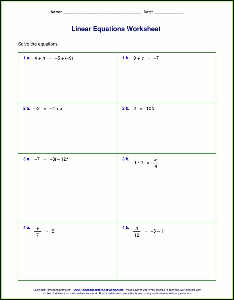 7th Grade Two Step Inequalities Worksheet