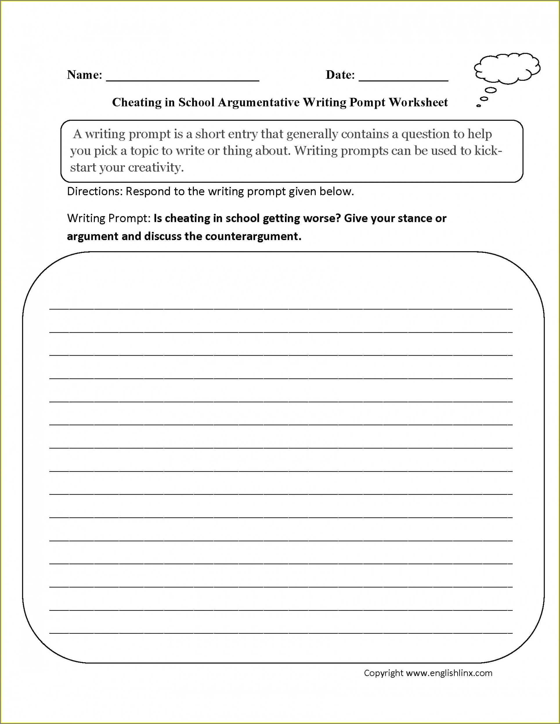 7th Grade Writing School Worksheets For 7th Graders