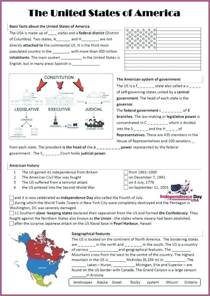 8th Grade History Worksheets Free