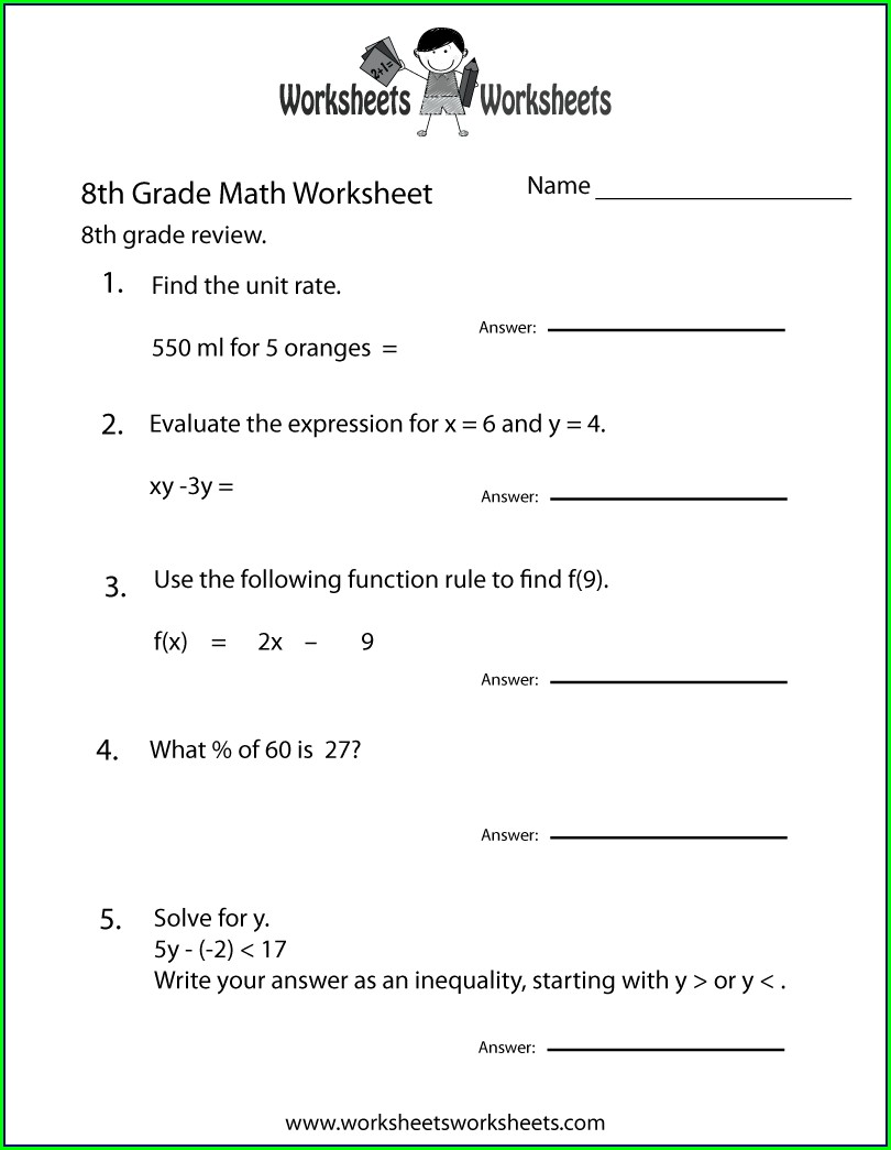 8th Grade Science Worksheet For Class 8