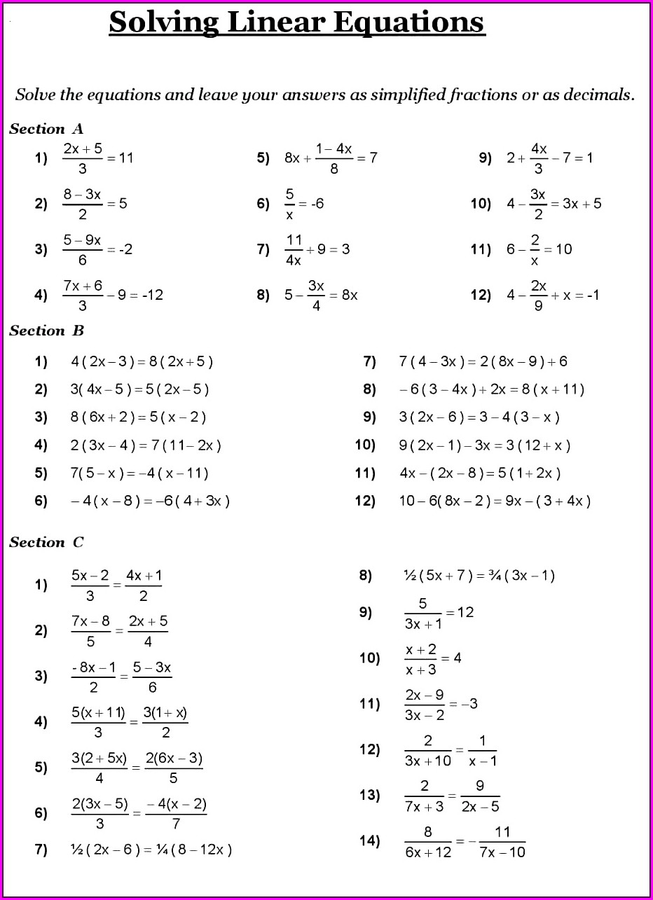 8th Grader 8 Grade Math Worksheet