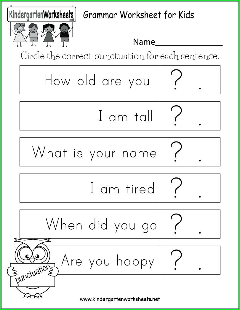Activity Worksheet For Kindergarten English