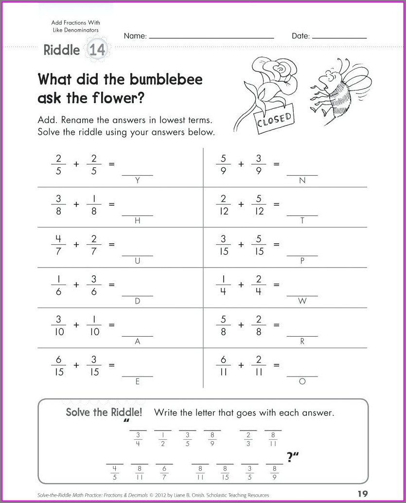 Adding And Subtracting Rational Numbers Worksheet With Answers