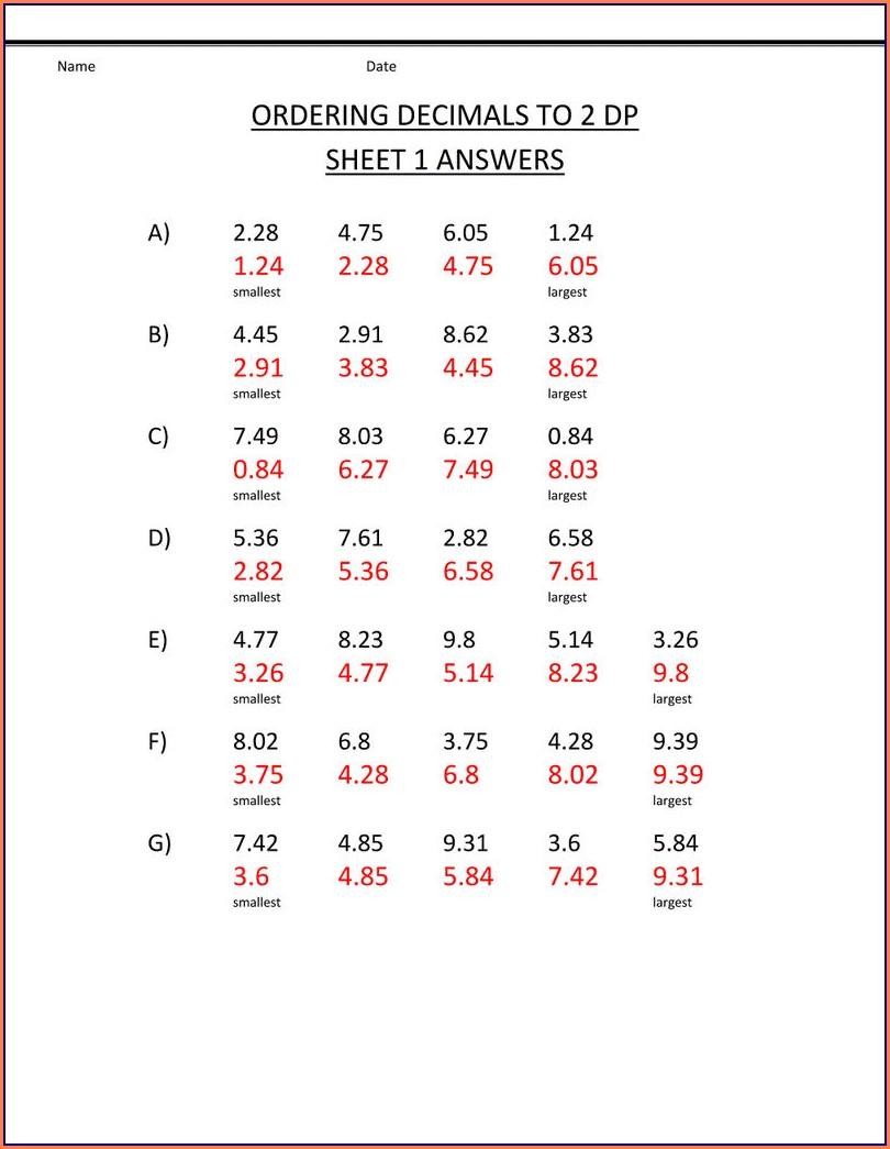 Algebra Sixth Grade Math Worksheets