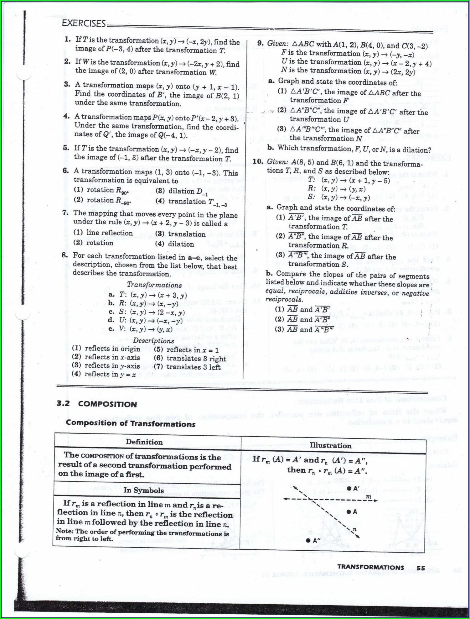 Algebra Worksheet And Answers