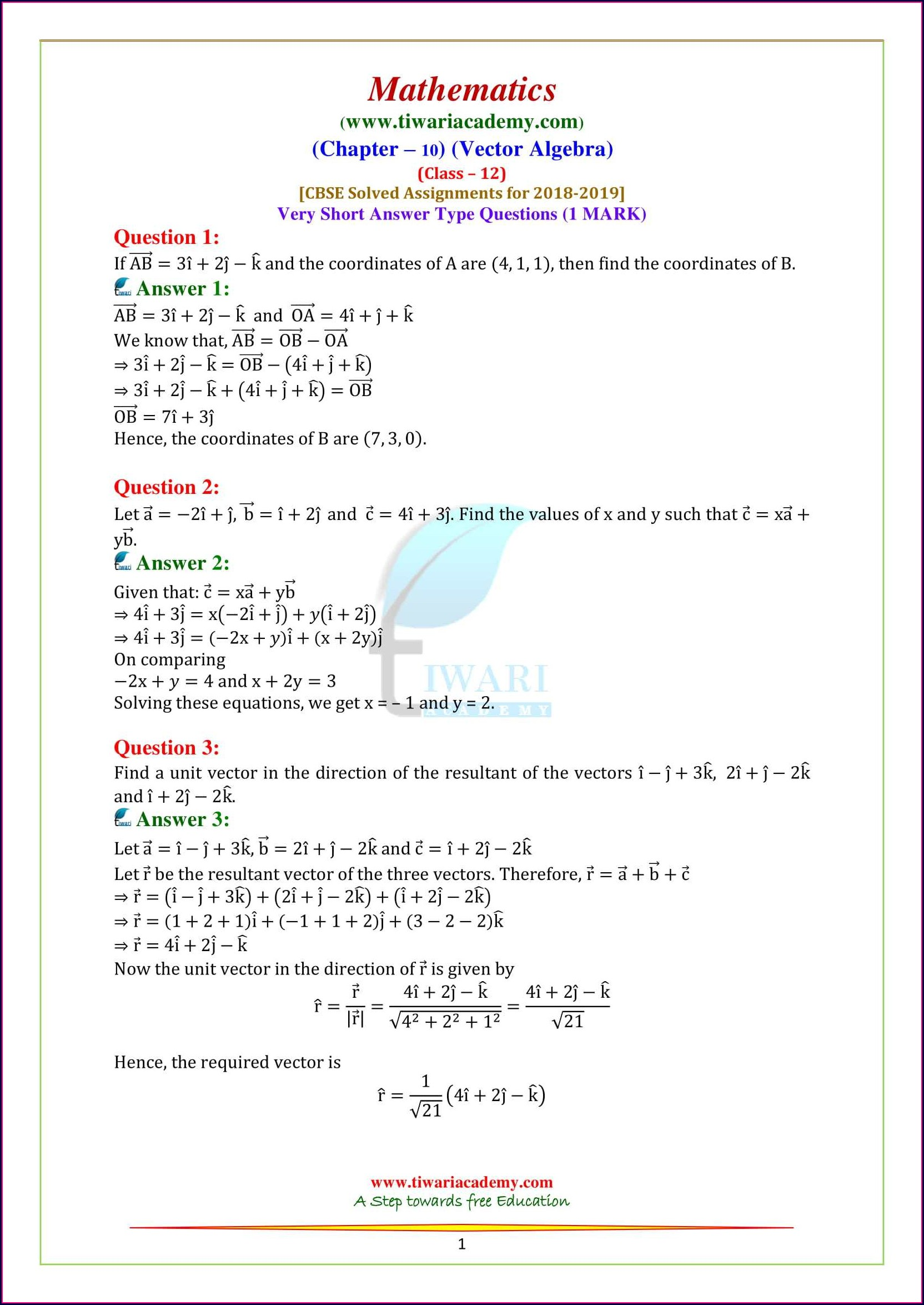 Algebra Worksheet For Grade 5