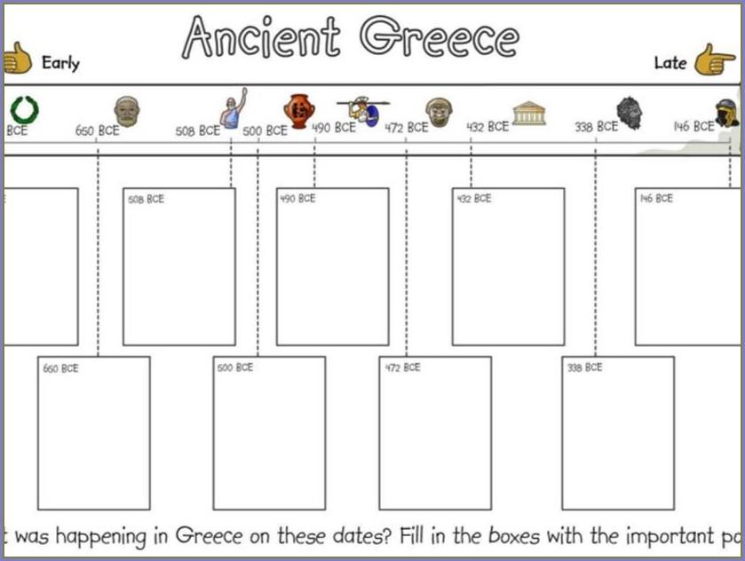 Ancient Greek Timeline Worksheet