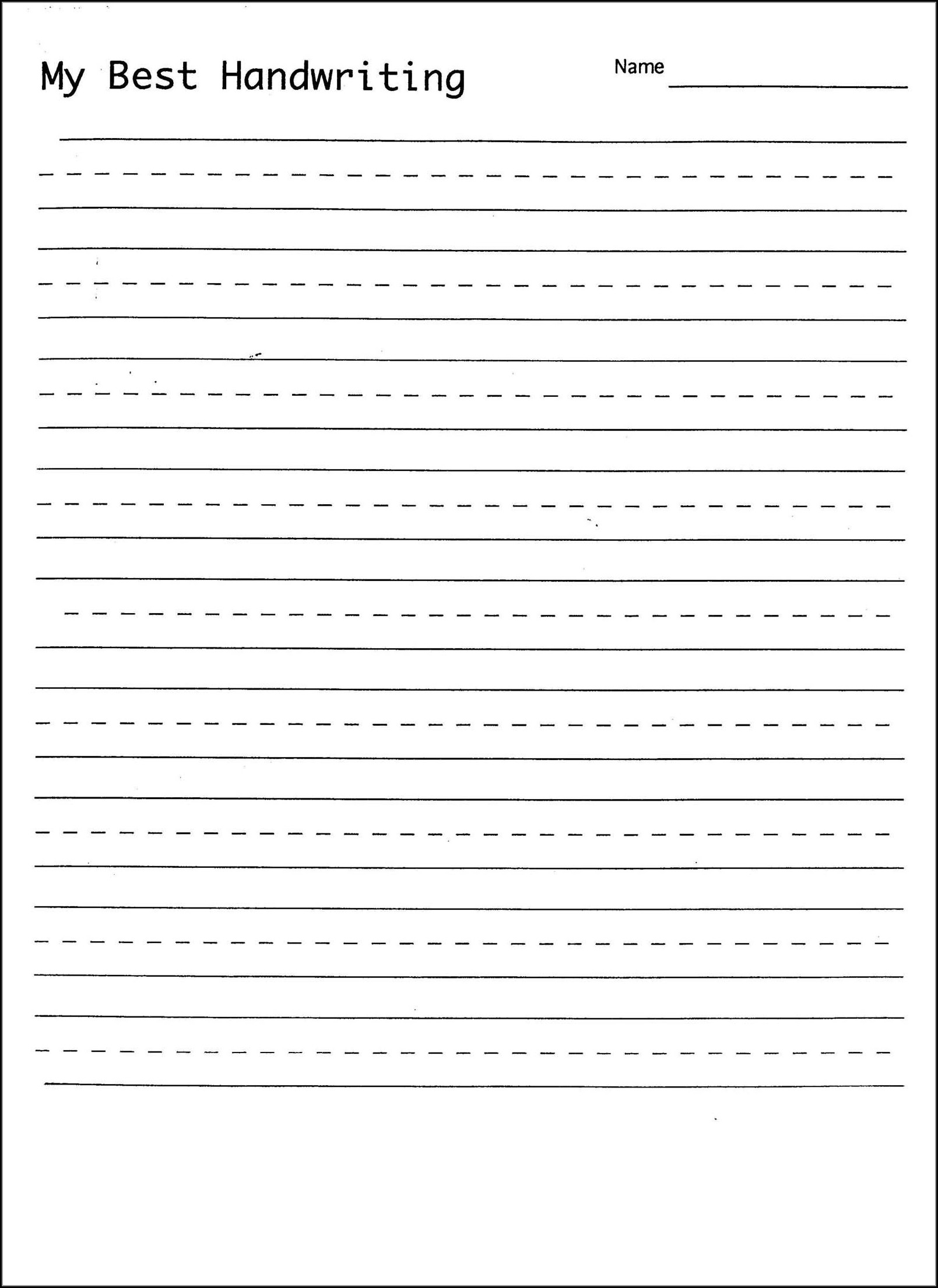 Blank Cursive Writing Practice Sheets For Adults